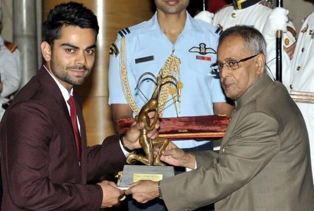 Virat kohli Awards information in Marathi