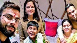 Virat kohli with family members
